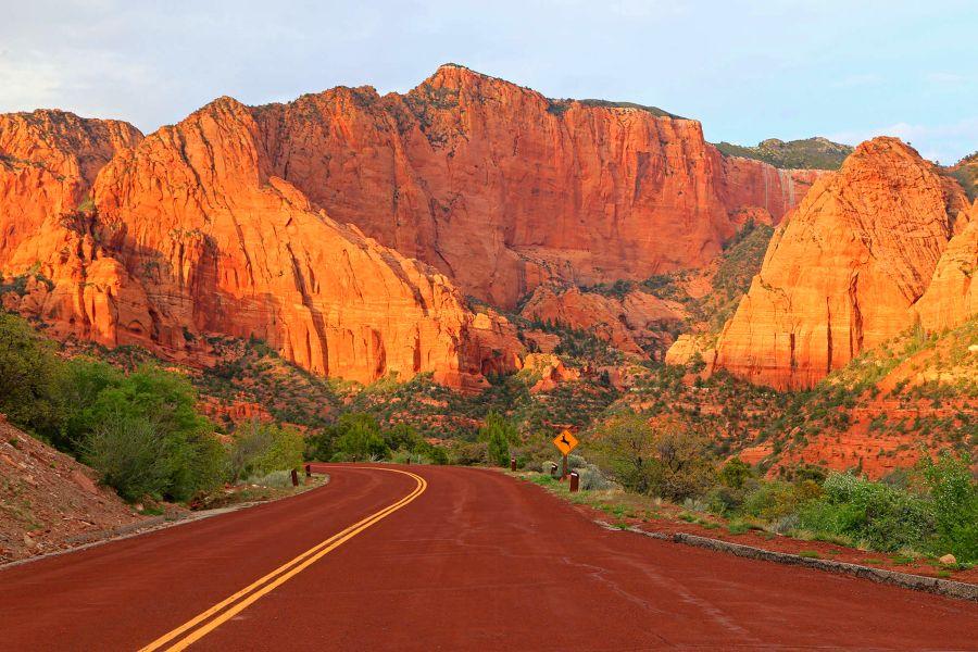 Zion-National-Park-road