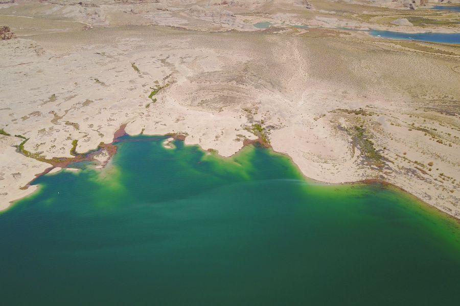 Lake-Powell-Lone-Rock-Beach-drone-view