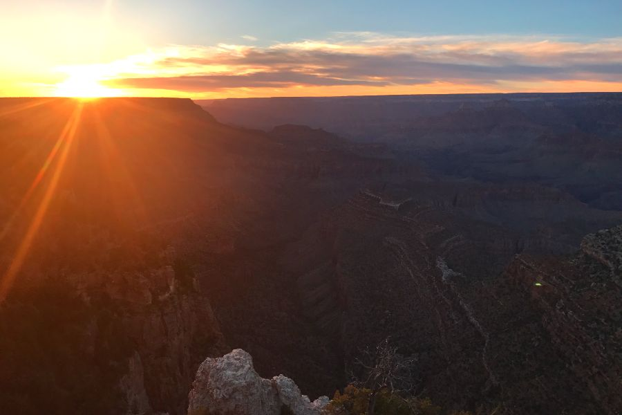 Grand-Canyon-grand-view-point-sunset-2