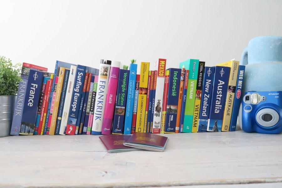 reisboeken van verschillende landen